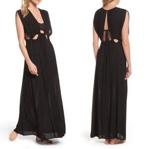 Elan Black Cutout Cover-Up Maxi Dress